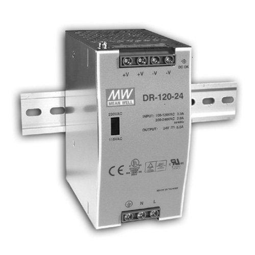 Stabilizovaný zdroj na DIN lištu DR-120-12, 12V / 10A