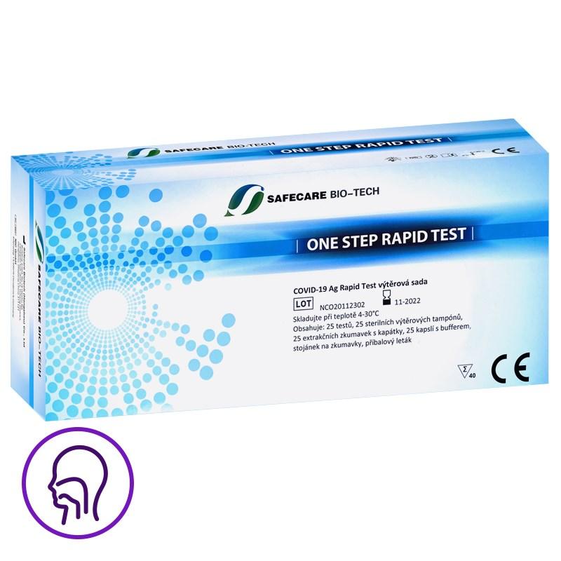 Antigenní test z nosohltanu - 25ks (Safecare Biotech)