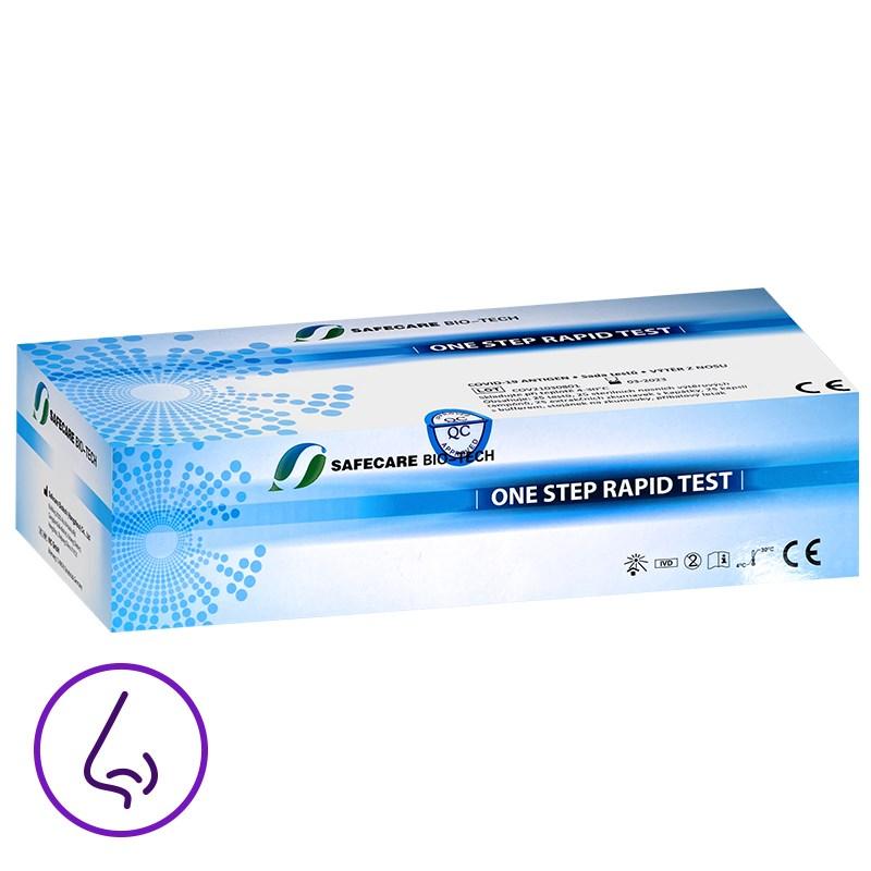 Antigenní test z přední části nosu - 25 ks (Safecare Biotech)